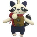 Raccoon Fabric Charm 10 cm