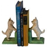 Westie Bookends White
