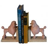 Pink Poodle Bookends