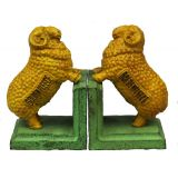 Golden Fleece Bookends Green B