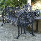 Oak Leaf Bench Black - RRP1,700.00