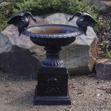 Swan Urn Black 135kg 80cm