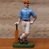 Cricketer Doorstop Blue 33cm