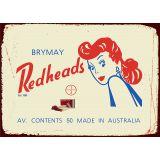 Redheads Tin Sign 35x26cm