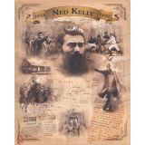Ned Kelly Tin Sign 35x26cm