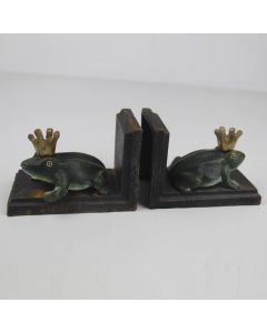 Frog with Crown Bookends