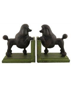 Black Poodle Bookends
