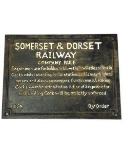Somerset & Dorset Railway Sign