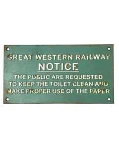 Great Western Notice Sign