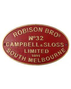 Robinson Sth Melb Sign 27x16cm