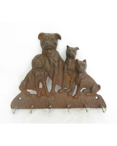4 Dog Key Rack